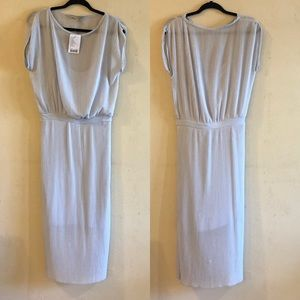 Anthropologie Bordeaux Ice Pleat Dress size S NWT